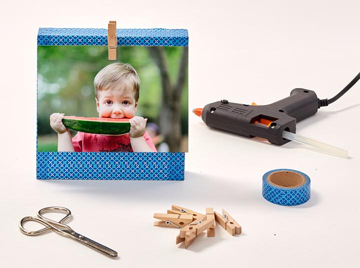 Un portafoto divertente da vare con i vostri bambini!