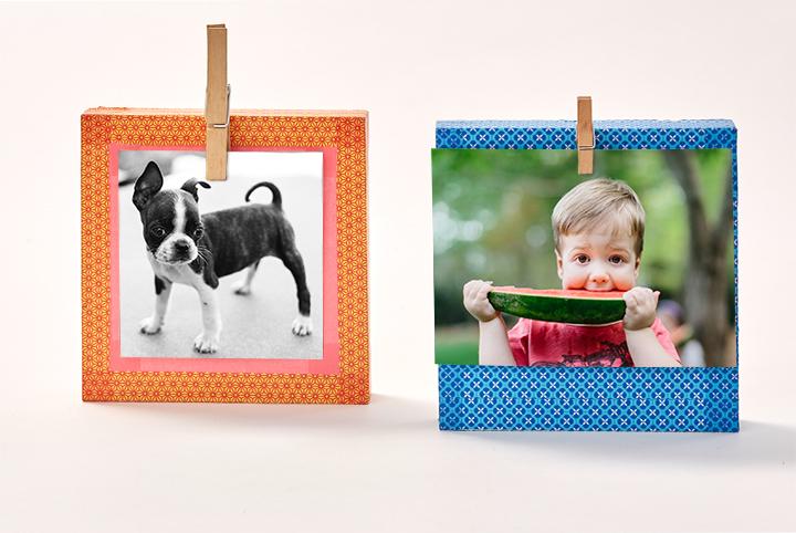 Un portafoto divertente da fare con i vostri bambini!