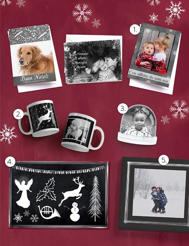 Idee regalo con foto in bianco e nero
