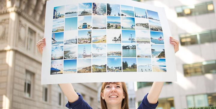creare un poster o ingrandimenti foto in stile instagram