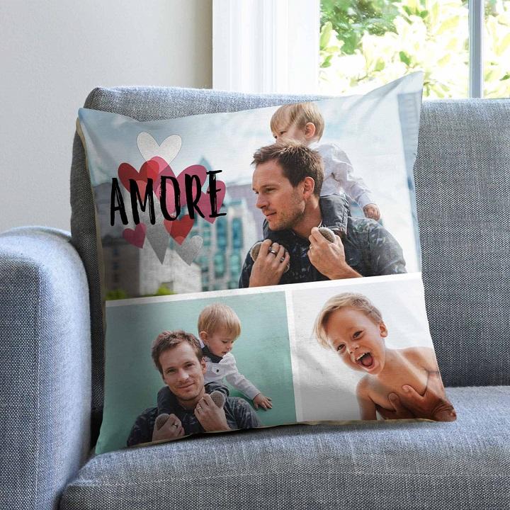 crea un cuscino personalizzato con foto di papà