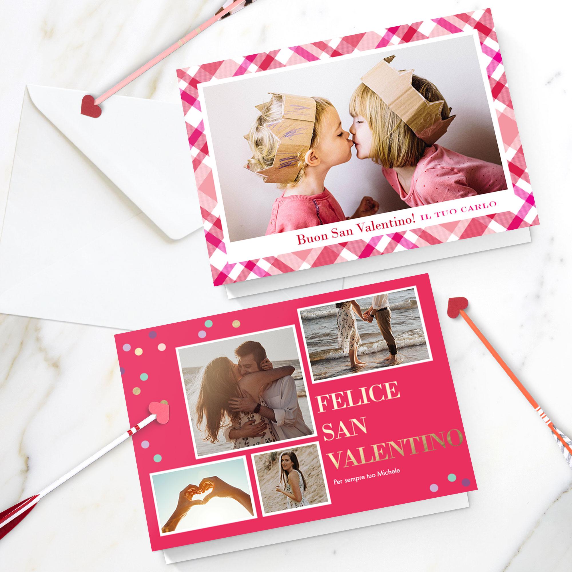 biglietti di auguri personalizzati per San Valentino